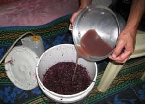 Отримання сусла домашнього вина
