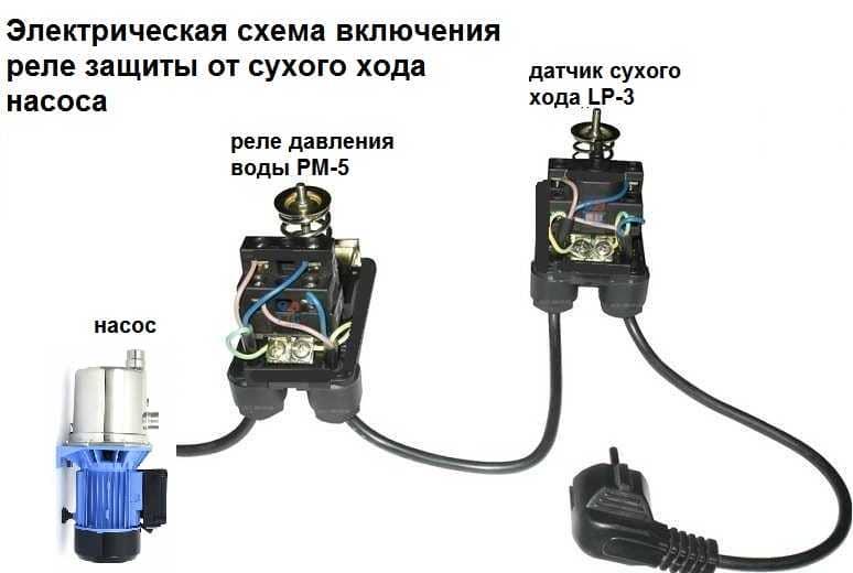 Схема подключения скважинного насоса сухой ход6